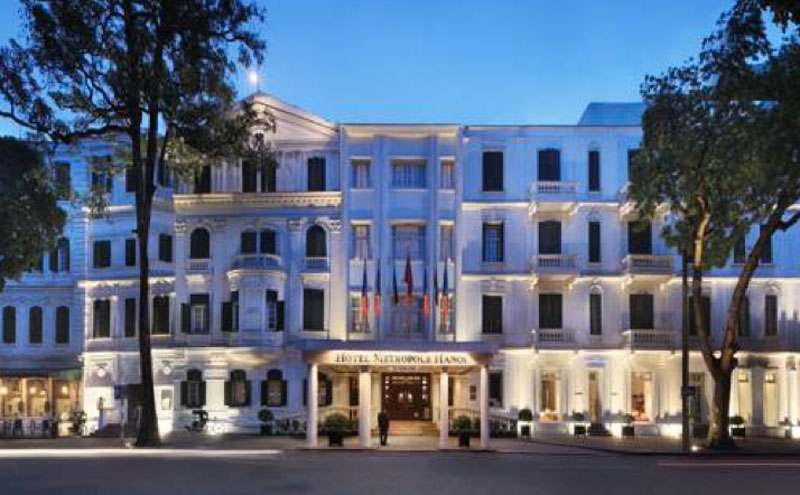 The incomparable Hotel Metropole Hanoi in Vietnam where The Apology begins.