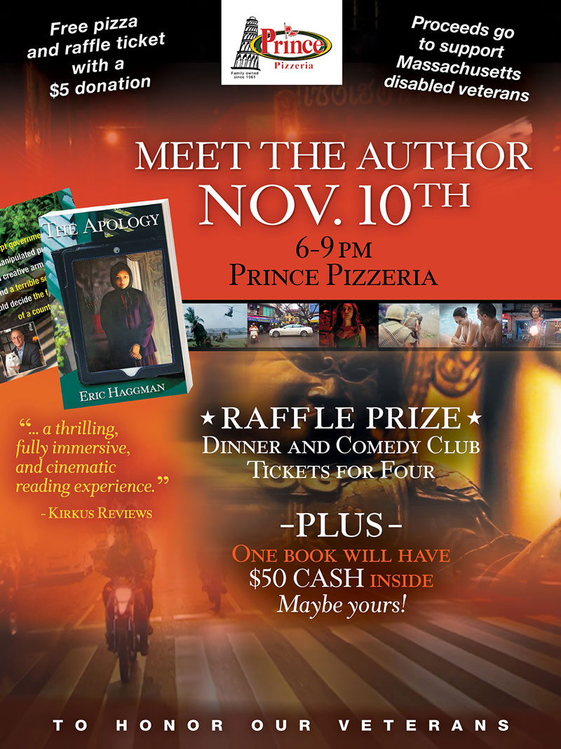 Book Signing - November 10th, 2016 at Prince Pizzaria, Saugus MA